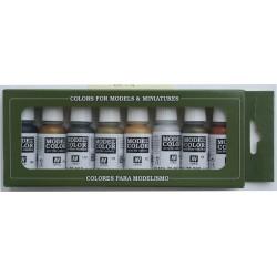 Model Color Metallic Colors (8 *17 ml)