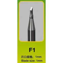 Ciseau Plat / Flat Chisel F1, Ø 1 mm