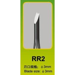 Ciseau Rond / Round Chisel RR2, Ø 3 mm