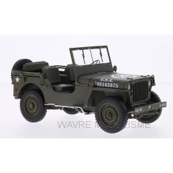 Willys Jeep, matte-d, U.S. Army, ouvert 1/18