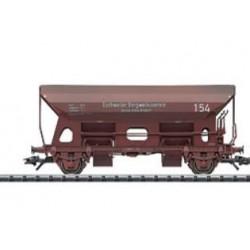 Wagon à déchargement latéral par tiroir tournant H0