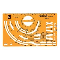 Gabarit de traçage / Track Stencil for N gauge