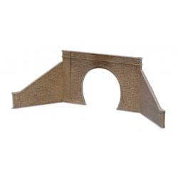 Entrée de tunnel avec murs de soutènement,1 voie, type pierres / Tunnel Mouth & Walls, stone type, single track H0